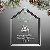 Personalized Glass House Christmas Ornament - Create Your Own - 15151