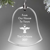 Personalized Glass Bell Christmas Ornament - Create Your Own - 15153