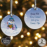 Personalized Precious Moments Snowman Christmas Ornament - 15156