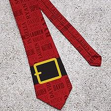 Personalized Men's Christmas Tie - Santa's Belt - 15159