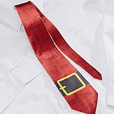 Personalized Men's Christmas Tie - Santa's Belt - 15159