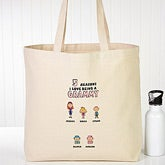 Personalized Canvas Tote Bag - Her Reasons Why - 15165