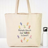 Personalized Canvas Tote Bag - Hands Down - 15167
