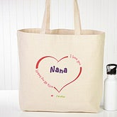 Personalized Canvas Tote Bag - All Our Hearts - 15169