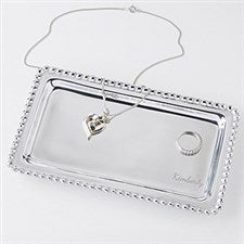 Personalized Mariposa Jewelry Tray - String of Pearls - 15175