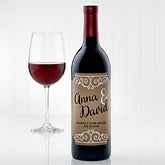 Personalized Rustic Wedding Wine Bottle Labels - 15178