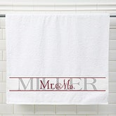 Personalized Wedding Bath Towel Set Of 2 - Wedded Pair - 15180