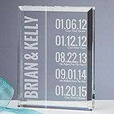 Personalized Paperweight Keepsake - Milestone Dates - 15193