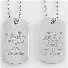 Personalized His & Hers Dog Tag Set - 15195