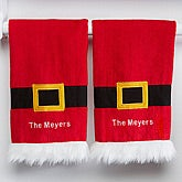 Personalized Christmas Kitchen Towel Set - Santa's Belt - 15211