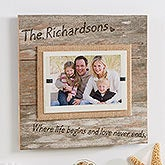 Personalized Reclaimed Beachwood Picture Frame - Love Never Ends - 15212
