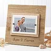 Personalized Reclaimed Beachwood Picture Frame - Our Love - 15213
