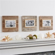 Personalized Reclaimed Beachwood Picture Frame - 15214