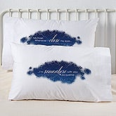 Personalized Romantic Pillowcase Set - Whenever I Close My Eyes - 15223