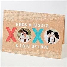 Personalized Photo Greeting Card - XOXO - 15224