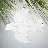 Engraved Dove Ornament - Memorial - 15227
