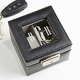Monogram Leather Watch Box 2 Slot - 15257