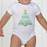 Personalized Baby's 1st Christmas Apparel - Christmas Tree - 15258