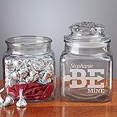 Personalized Romantic Glass Jar - Be Mine - 15263