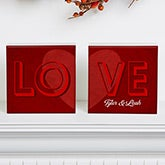 Personalized Romantic Shelf Blocks - LOVE - 15266