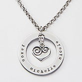 Personalized Heart Necklace - Circle Of Love - 15277D