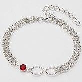 Personalized Infinity Bracelet with Swarovski Crystal - 15280D