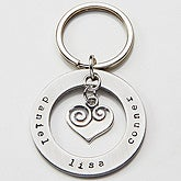 Personalized Heart Keychain - Circle Of Love - 15281D
