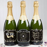 Personalized Champagne Bottle Labels - Happy New Year! - 15305
