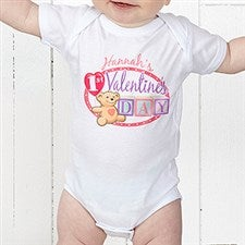 Personalized Baby's First Valentine's Day Apparel - 15307
