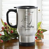 Personalized Teacher Stainless Steel Travel Mug - Making The Grade - 1531