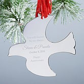 Personalized Special Date Dove Ornament - Lovey Dovey - 15313