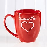 Personalized Red Bistro Mug - Valentine Cheer - 15321
