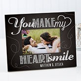 Personalized Romantic Photo Frame - You Make My Heart Smile - 15323