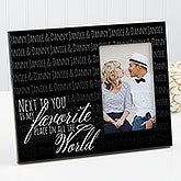 Personalized Romantic Picture Frame - My Favorite Place - 15324