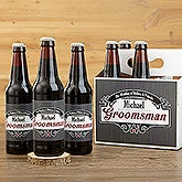 Personalized Wedding Beer Bottle Labels - Groomsman - 15338