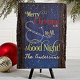 Personalized Christmas Basswood Plank Sign - To All A Goodnight - 15354