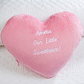 Personalized Plush Heart Pillow - Lil' Sweetheart - 15363