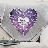 Personalized Sweatshirt Blanket - We Love You To Pieces - 15366