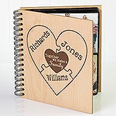 Personalized Wood Photo Album - Together We Make A Family - 15367