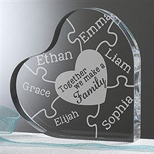 Personalized Heart Keepsake - Together We Make A Family - 15371