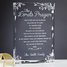 Personalized Religious Keepsake - The Lord's Prayer - 15372