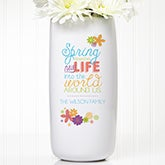 Personalized Ceramic Vase - Spring Flowers - 15375
