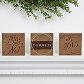Personalized Shelf Blocks - Bless Our Nest - 15376