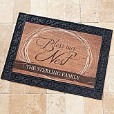 Personalized Doormat - Bless Our Nest - 15378