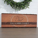 Personalized Basswood Plank - Bless Our Nest - 15383