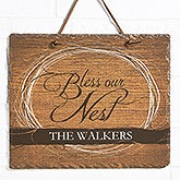 Personalized Slate Plaque - Bless Our Nest - 15385
