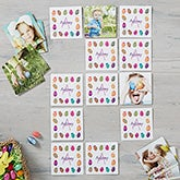 Personalized Easter Photo Memory Game - Colorful Eggs - 15387