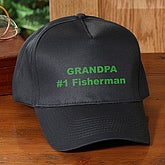 Embroidered Black Baseball Hat - You Name It - 1539
