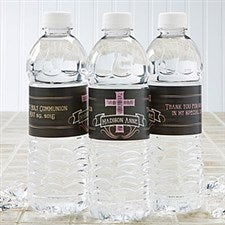 Personalized Water Bottle Labels - Blessed Day - 15398