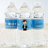 Personalized Water Bottle Label - I'm The Communion Boy - 15401
